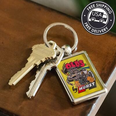 Hairy Oldsmobile By Hurst Ed Roth Art Keychain | Olds 4-4-2 Key-Chain Fob