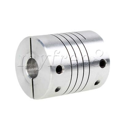 30mm Long 25mm Dia Flexible Shaft Motor Encoder Coupling 8mm to 12mm
