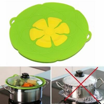3pcs Silicone Boat Ship Shaped Pot Pan Cover Spill Stopper Lid Kitchen Tools