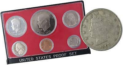 1976 S U.S Mint Proof Set with 1907 Liberty Head Nickel Good