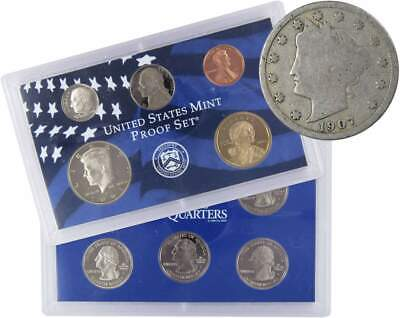 2003 S U.S Mint Proof Set with 1907 Liberty Head Nickel Good