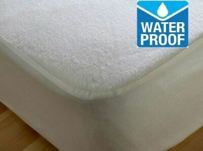 Cot Bed 70X140 100% Waterproof Terry Towel Mattress Protector Fitted Sheet Cover