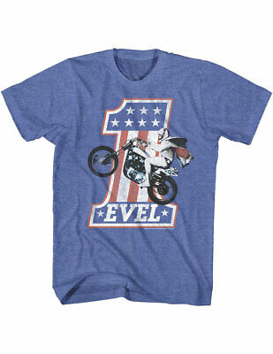 NEW NWT Evel Knievel Royal T-Shirt, Vintage Officially Licensed