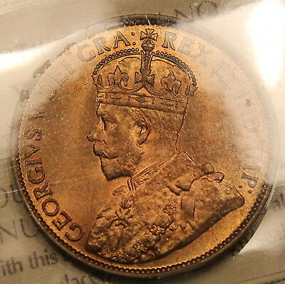 1913 Canada Large Cent ICCS MS-65 RED Gem Uncirculated Trends $1100