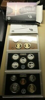 2014 S  UNITED STATES MINT SILVER PROOF SET 14 COINS IN ORIGINAL BOX w/ COA