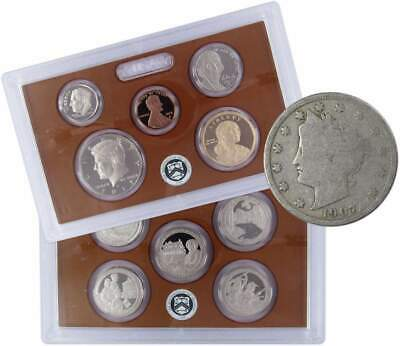 2017 S U.S Mint Proof Set with 1907 Liberty Head Nickel Good