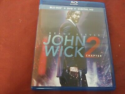 John Wick Chapter 2 Keanu Reeves Action Bluray 2 Disc Dvd Movie Film Disc Set R