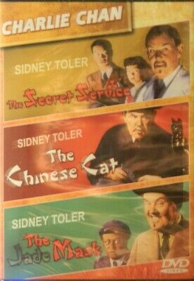 3 CHARLIE CHAN Movies The JADE MASK The SECRET SERVICE The CHINESE CAT Sealed