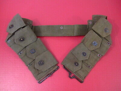 WWII US Army Dismounted M1923 Ammunition Cartridge Belt - M1 Garand - OD Green 8