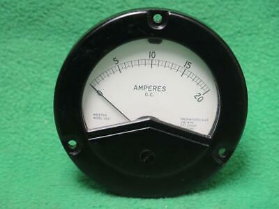 Weston 260628 2531 Mv Amp 0-20 Amperes D.c. Ammeter Instrument Panel Meter Gauge
