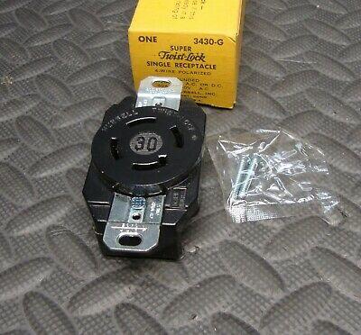NEW Hubbell 3430G 3 Pole 4 Wire Receptacle 30 Amp Twist Lock 30A 250 Volt