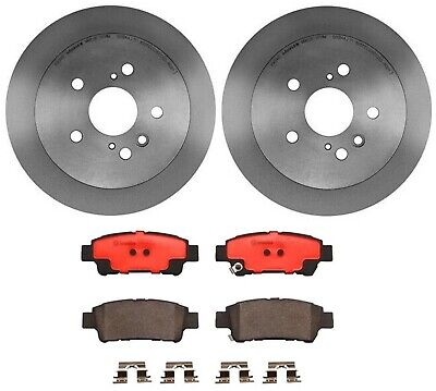 For Ford Mustang 2005-2010 Rear Disc Brake Rotors and Ceramic Pads Kit Brembo