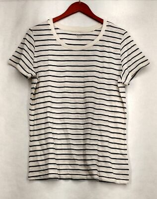 d3ca2df34895cc Mossimo Supply Co. Sz XXL Striped Short Sleeve Tee White   Black Top Womens