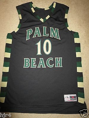 Palm Beach Community College #10 Basketball Game Used Worn Black Jersey XL mens