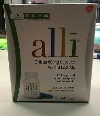 alli Weight Loss Aid Diet Pills 60mg Capsules Starter Pack 60 Count, Exp 03/2021