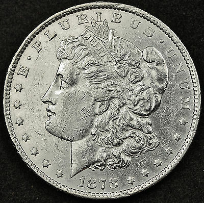 1878 Morgan Silver Dollar.  Reverse of 1879.  Semi-Proof like.High Grade.  92524