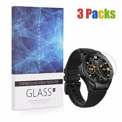 ... For Ticwatch E2 S2 Tempered Glass Screen Protector 9H Hardness 3 Packs