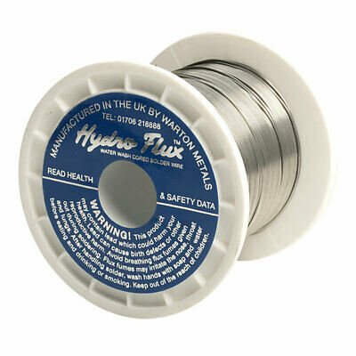 Warton Metals Hydro Flux 63/37 O/A 2% Flux Solder Wire 22SWG 0.711mm 250g