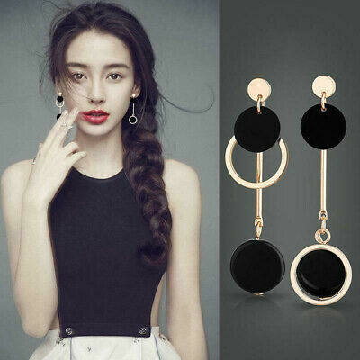 2019 New Fashion Geometry Circle Earring Statement Dangle Earrings Women Jewelry