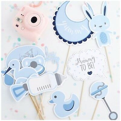 Oh Baby Photo Booth Props - Baby Shower Photos - Blue Boys 13 Photo Props