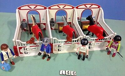 (L46) playmobil 3 box chevaux, poney ranch ref 5221 5110 5520