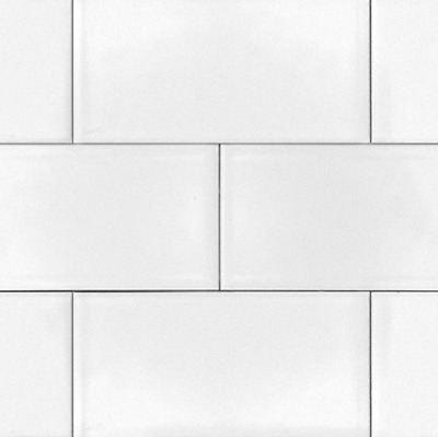 White 3x6 Shiny Glossy Ceramic Subway Tile Backsplash Wall Floor KITCHEN or BATH