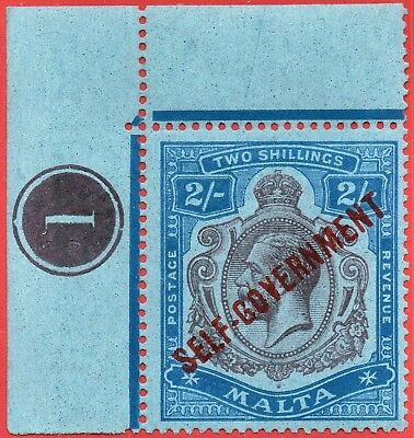 [mag821] MALTA 1920 SG#120 mnh with Plate number + Variety not listed in Stanley