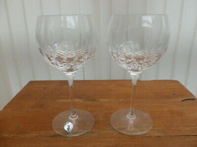 2 Waterford Crystal Lismore Balloon Glasses