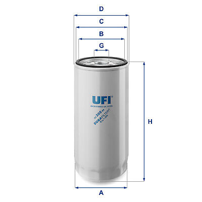 2328800 UFI Oil Filter Oil Spin-On