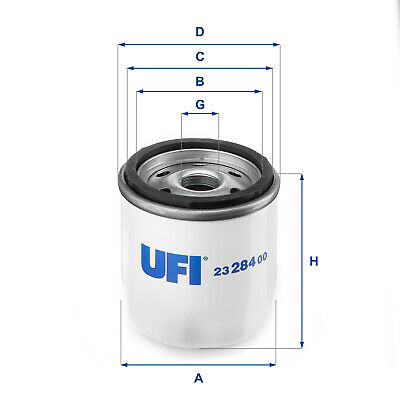 2328400 UFI Oil Filter Oil Spin-On Replaces 141383,151323,206166,F114301