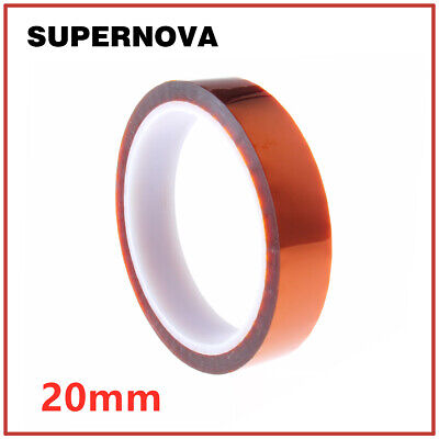 20mm X 33m 100ft Kapton Tape High Temperature Heat Resistant Polyimide HOT