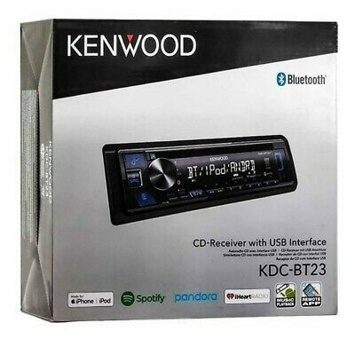 Kenwood KDC-BT23 Single DIN Bluetooth In-Dash CD/AM/FM Car Stereo Receiver NEW