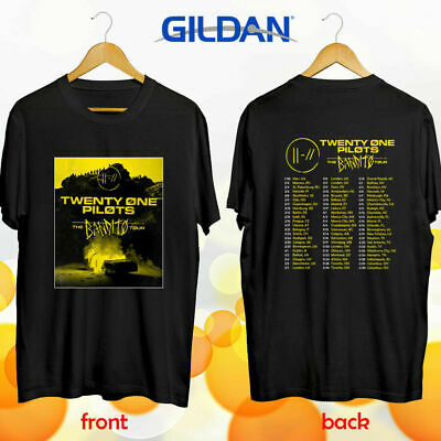 Twenty One Pilots the Bandito world tour concert 2019 black tee shirt S-3XL