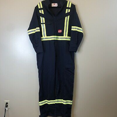 NEW Westex Ultra Soft FR Flame Resistant Reflective Striping Coveralls 40/W