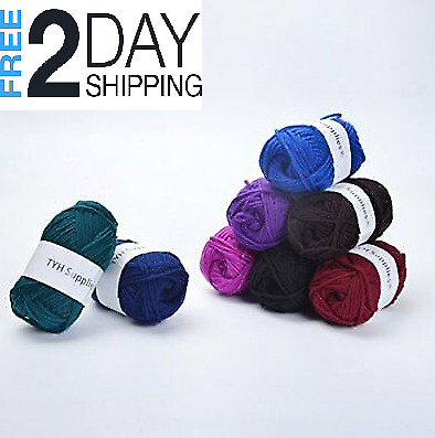 Lot Of 20 Yarn Skeins Assorted Colors Huge Mixe Knitting 100% Acrylic Wool Balls