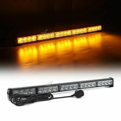 "21"" 20W Amber LED Traffic Adviser Emergency Warn Response Flash Strobe Light Bar"