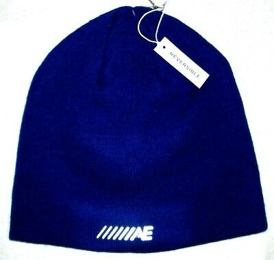 0812fd636c8e3 Mens American Eagle Outfitters Reversible Royal Blue Beanie Hat One Size