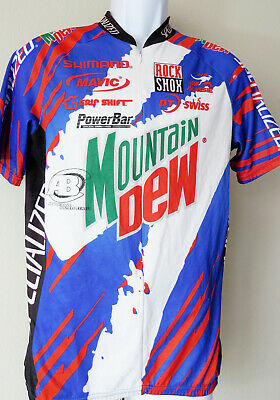 Bold AUSSIE SPECIALIZED MOUNTAIN DEW CYCLING Jersey Shimano Rock Shox  Vintage 8a46c2f17