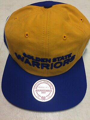 competitive price 85a10 25fc2 Golden State Warriors NBA 2018 Anorak Nylon Adjustable Snapback Hat OSFA NWT