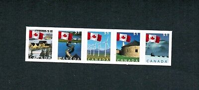 2005  STRIP OF 5 MINT  CANADA STAMPS  # 2139a  FLAG BOOKLET  FV19