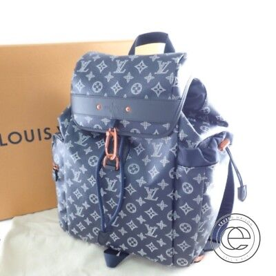 1bd745c386a0 Authentic LOUIS VUITTON M43693 Upside Down Discovery Backpack Monogram ink