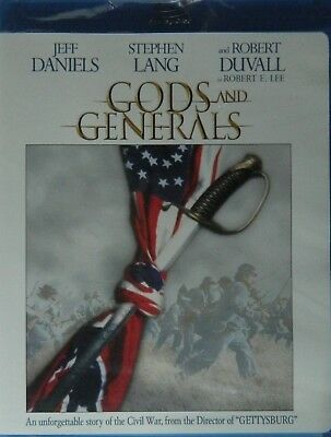 GODS and GENERALS (2003) Blu-ray Robert Duvall Jeff Daniels Stephen Lang SEALED