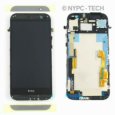 USA Assembly LCD Display Touch Screen Digitizer For HTC one M8 831C Gray frame