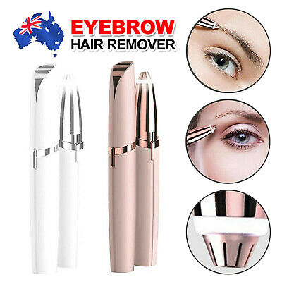Flawless Brows Hair Remover Electric Finishing Touch Face Eyebrow LED Light AU