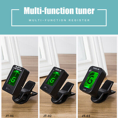 Professional Digital Chromatic LCD Clip-On Tuner for Bass Guitar Ukulele Violin