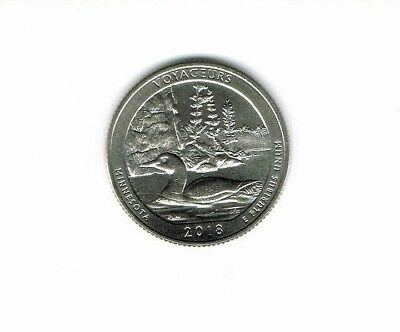 2018-S Brilliant Uncirculated  Voyageurs National Park (MN) 25 Cent Coin!