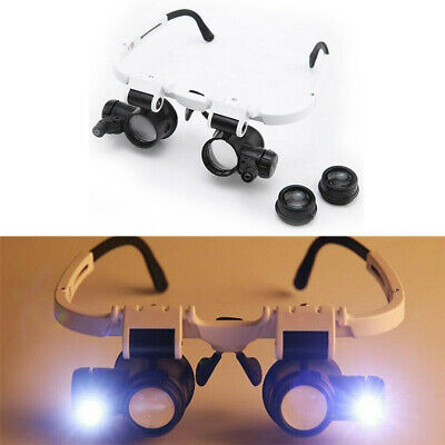 Head Wearing Repair Jeweler Watch ABS & Acrylic Magnifier Glass With LED Light