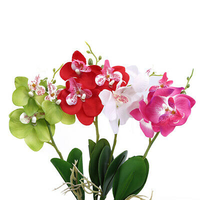 Artificial Fake Plastic Butterfly Orchid Home Office Party Garden Decoration BS