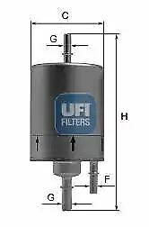 3186100 UFI Fuel Filter Petrol Replaces S 1861 B,