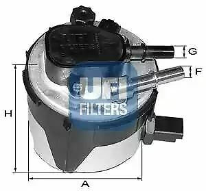 5517000 UFI Fuel Filter Diesel Replaces 1386037,5M5Q-9155-AA,Y603-13-480